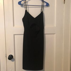Lulus black cut out dress NWT